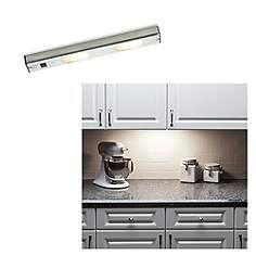 """Halogen 14 3/4"""" Wide Brushed Steel Under Cabinet Light"""