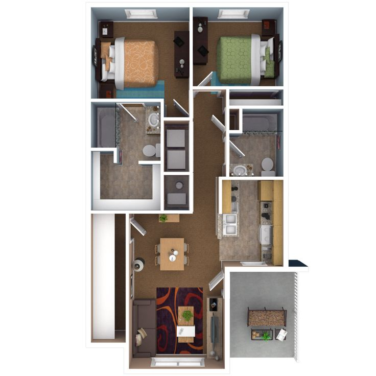 Beautiful Image Of Small Apartment Plans 2 Bedroom Small Apartment Plans Apartment Floor Plans Small Apartment Floor Plans