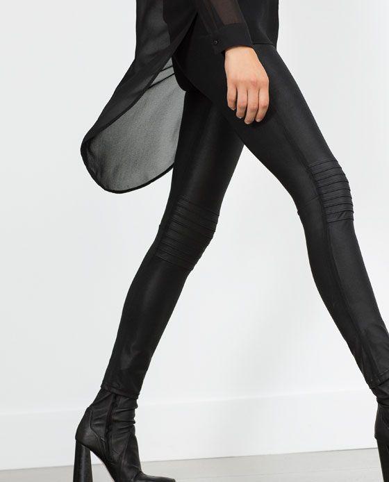 Image 3 of BIKER LEGGINGS from Zara
