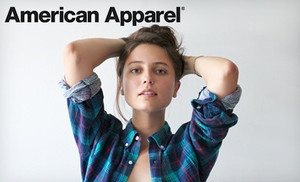 Groupon - $25 for $50 Worth of Clothing and Accessories Online or In-Store from American Apparel in the US Only in On Location. Groupon deal price: $25.00