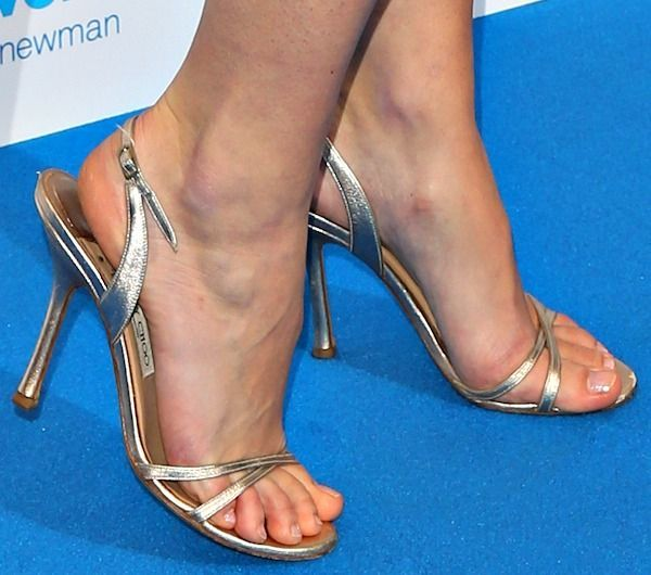 """947ba2fbb64 Keira Knightley Works Her Magic in Chanel and Gold Jimmy Choo """"India""""  Sandals"""