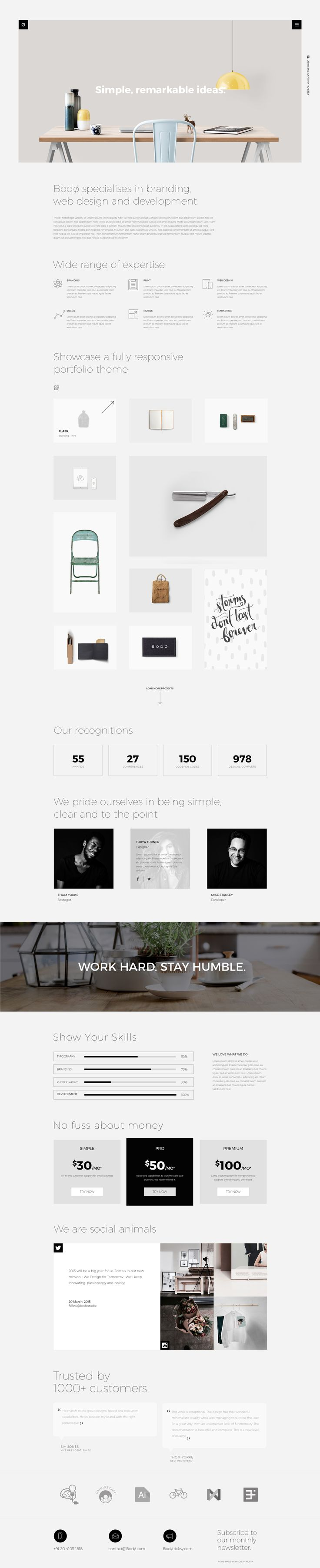 Homepage onepage