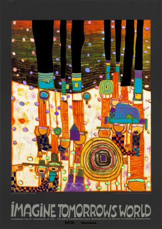 """Hundertwasser was one of the artists that I had to """"get used"""" to.  I had to aquire a taste for him. I would think if a person was too serious, they would never like Hundertwasser."""