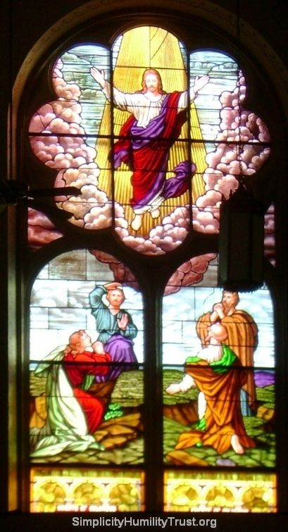 Stained Glass Window, Choir Loft - St. John's Catholic Church, Beloit Kansas. http://simplicityhumilitytrust.org