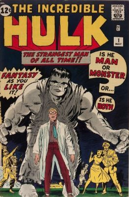 The Incredible Hulk #1 (May 1962): Origin and First Appearance of The Hulk. Third most valuable Silver Age comic book. Click for value