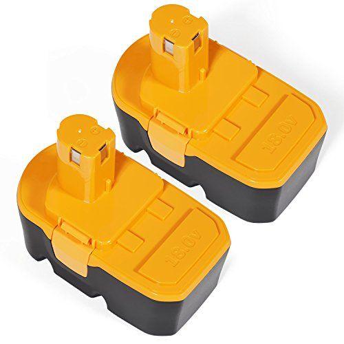 SISGAD 18V 3.0Ah Ni-MH Replacement Battery for Ryobi One Plus P100 P101 Ryobi Cordless Power Tools ( 2 Packs ) #SISGAD #Replacement #Battery #Ryobi #Plus #Cordless #Power #Tools #Packs