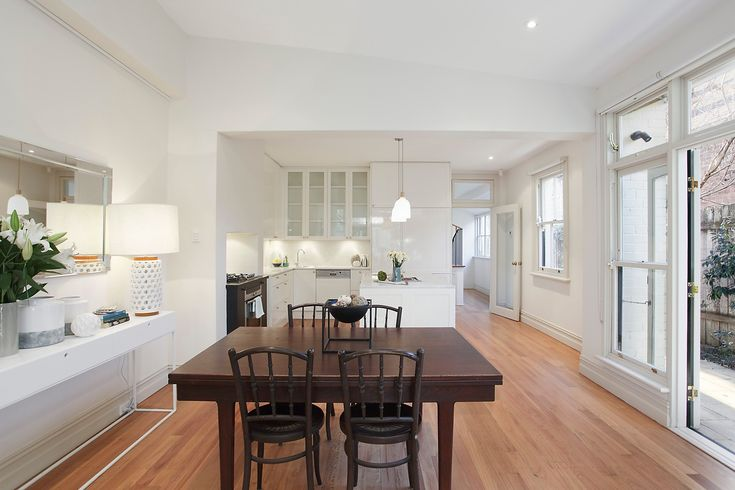 Dining, Timber, Vintage, Modern, Annandale, Real Estate, Pilcher Residential, For Sale, White, Interior Design, Sleek