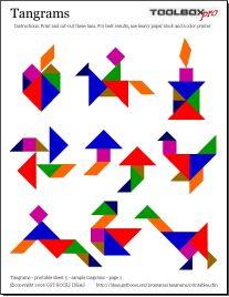 IDEIAS Tangrams Programa de Recursos - Os recursos para impressão