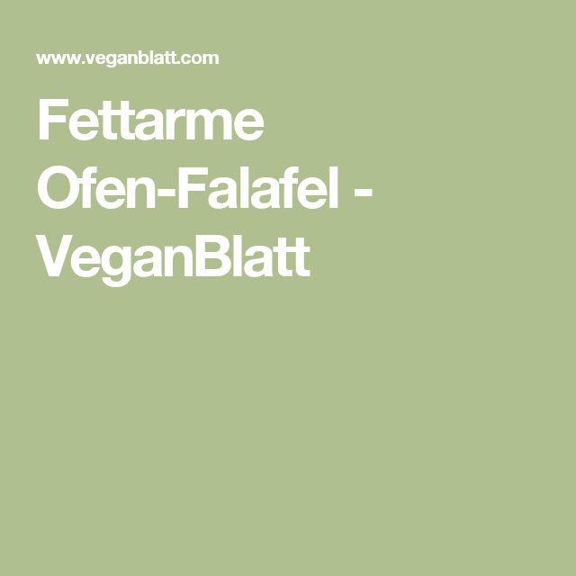 Fettarme Ofen-Falafel - VeganBlatt