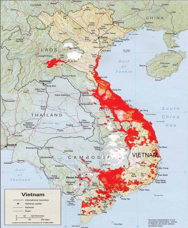 Marines 10: Agent Orange in Vietnam Map | Helpful | Vietnam map