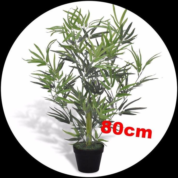 Artificial Plant Tree Bamboo Plant W. Pot Planter Indoor Outdoor Decor 80 Cm Uk