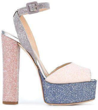 Giuseppe Zanotti Design Amelia glitter sandals - $397.50