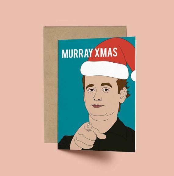 Bill Murray Murray XMAS Funny Christmas Card by GREETYOSELF