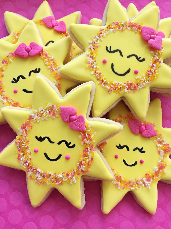 You are my sunshine, my only sunshine sugar cookies