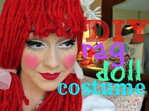 ▶ DIY: Rag Doll Costume, Wig, and Makeup - YouTube