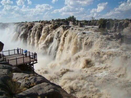 Augrabies Falls - South Africa. I was lucky enough to go here about 20 years ago. the Orange River wasn't in flood, as it is here. Mighty River.