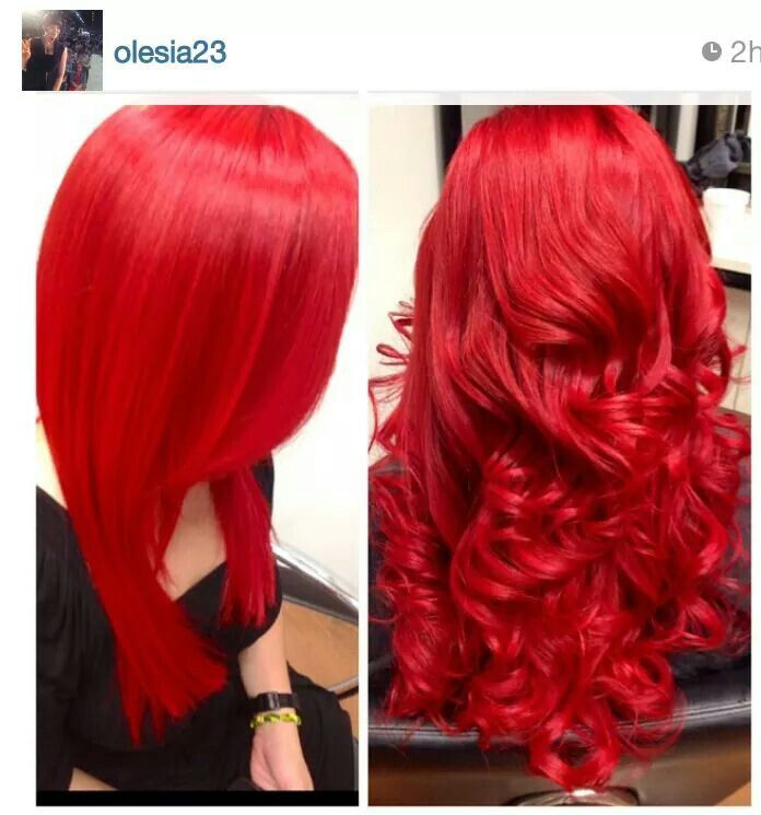 Wicked fire engine red hair love it!