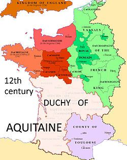 Duchy of Aquitaine Map 12th century