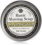 WSP Luxury Rustic Shaving Soap 4.4 Oz in Tin Artisan Made in America Using Vegan Natural Ingredients (Sandalwood) by Wet Shaving Products