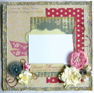 Page Kit with Kaisercraft Magnolia Grove created by Hilary Nicholas