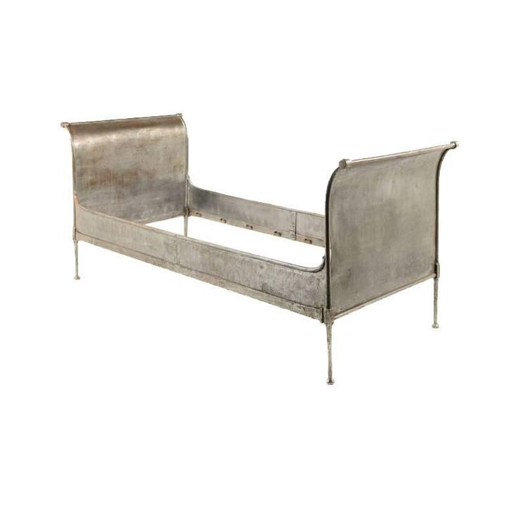Antique French 'Industrial' Daybed | See more antique and modern Bedroom Furniture at https://www.1stdibs.com/furniture/more-furniture-collectibles/bedroom-furniture