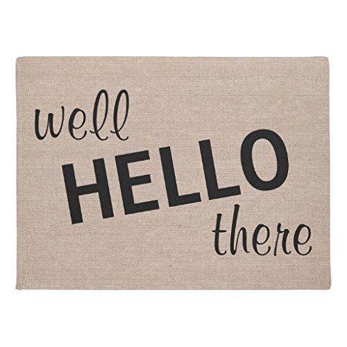 "LOU5KB Well Hello There Funny Quote Saying Hipster Humor Doormat Decor Doormat Washable Indoor/Outdoor Decor Rubber Doormats 16"" x 24"""