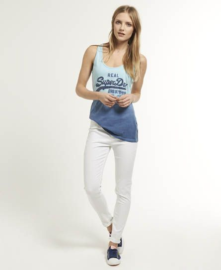 Womens - Ankle Grazer Jeans in Optic | Superdry