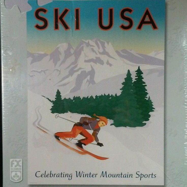 Enjoy Learning Us Map Puzzle%0A Ski USA Puzzle FX Schmid      Piece Celebrating Winter Mountain Sports  Olympics