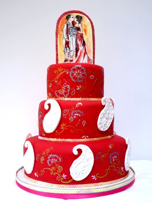 Indian Wedding cake...probably way out of my budget but maybe i can find a knock off version. hmmm