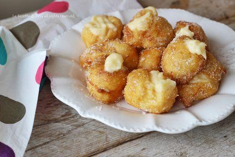 Frittelle con crema al limone