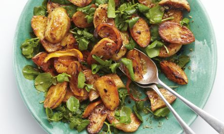 Yotam Ottolenghi's roast turnip, potato and garlic with harissa and orange