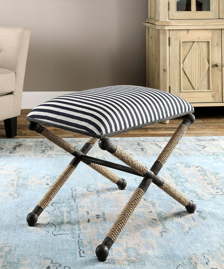 Small Bedroom Bench. Uttermost Braddock Small Bench  Sailor stripes and a natural rope wrapped rustic iron frame give the its chic nautical vibe 245 best Seating images on Pinterest Benches Chairs Chaise
