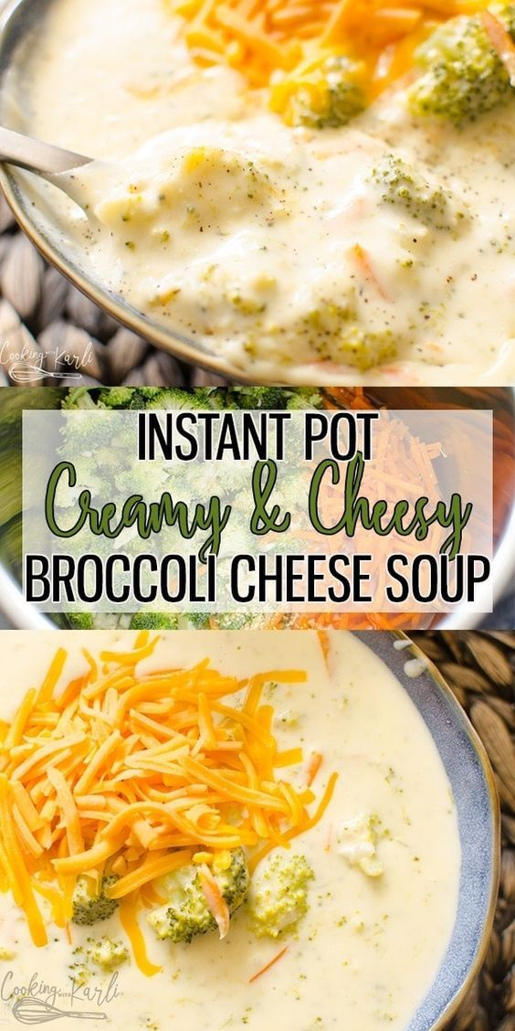 Instant Pot Broccoli Cheese soup is a creamy, flavorful soup that is literally r…