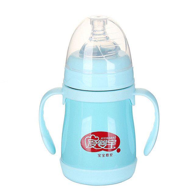 160ML Stainless Steel Heat keep Baby Milk Feeding Bottle Warm-Keep Infant Drinking Bottle Baby Feeder Feeding
