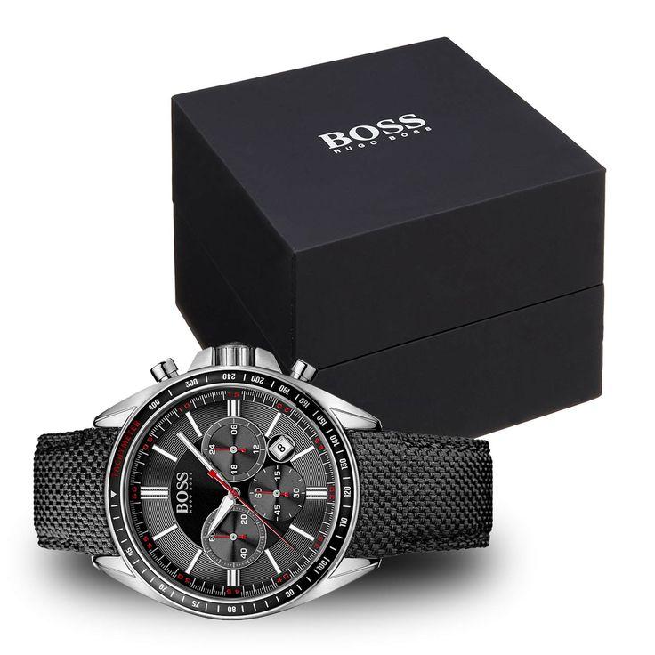 #Hugo #Boss 1513087 #Sport #Driver #Chronograph mit schwarzem Nylonarmband