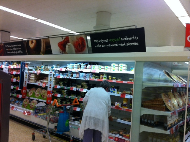 Sainsbury's in-store signage -  communication around re-cycling (2012)