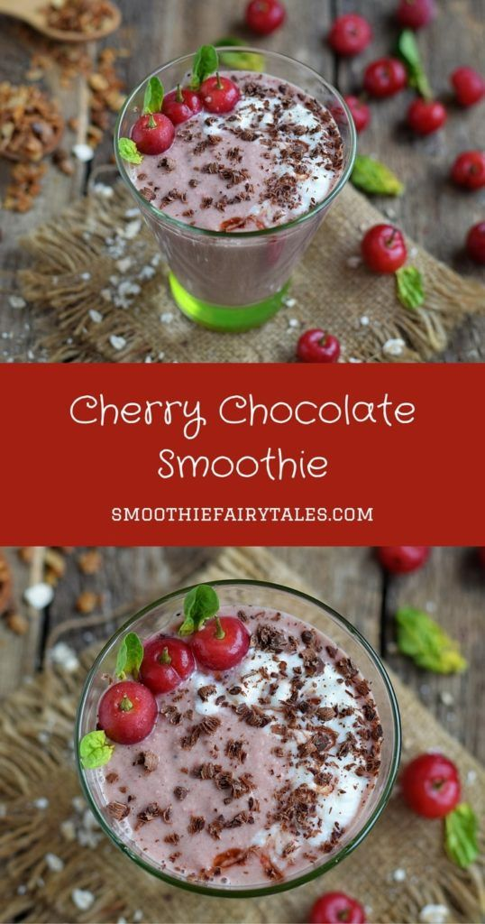 Cherry Chocolate Smoothie Pinterest