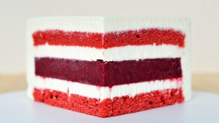 Муссовый торт Красный бархат ☆ Зеркальная глазурь ☆ Mousse Cake Red Velvet