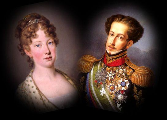 Dona Leopoldina e Dom Pedro I
