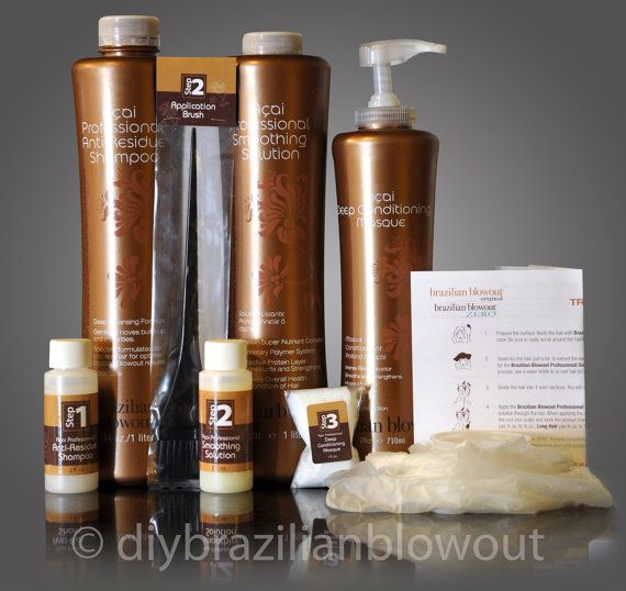 BRAZILIAN BLOWOUT DIY Kit Original Hair Smoothing by DIYBrazilianBlowout, $64