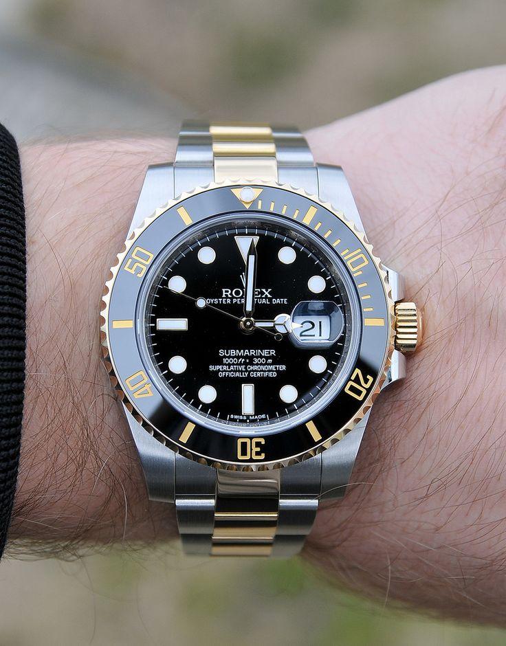 Pinterest @ dapperNdame Rolex Submariner Gold 116613LN