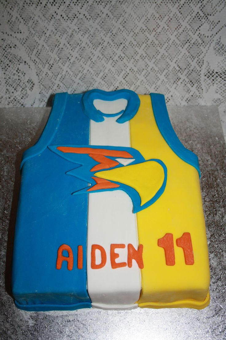 <3 AFL Eagles Guernsey  <3 Made By Decadent Cakes & Cupcakes