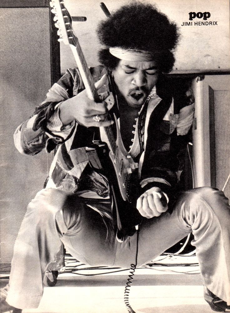 Jimi Hendrix / Black & White Photography