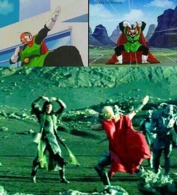 "Loki and Thor:  ""Great Saiyaman pose"""
