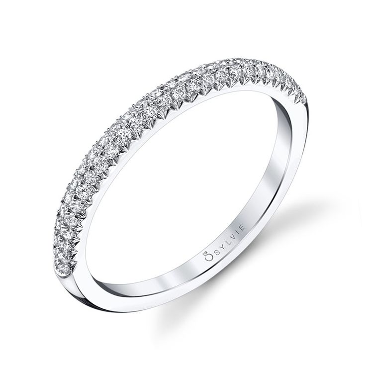 Simple Designer Stackable Diamond Wedding Band Diamond Wedding Band