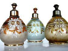 3 Antique Victorian Bohemian Moser Perfume Rose Sprinkler - Top TRIO 1900