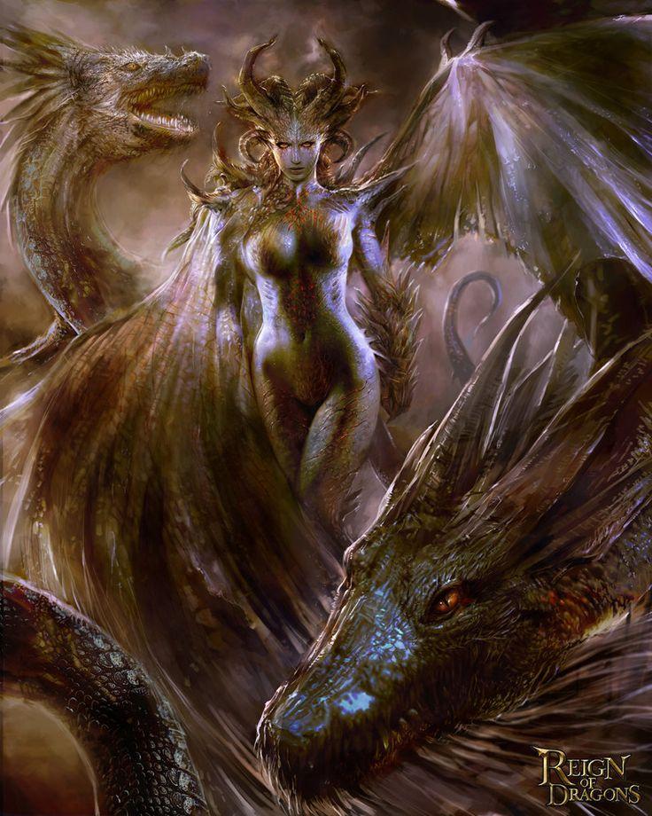 Dragon Queen version 01 by ~TheBastardSon on deviantART
