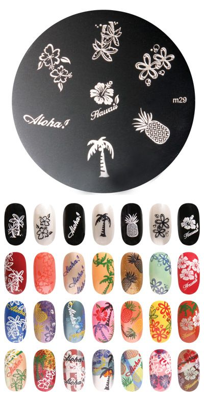Best 25 nail plate ideas on pinterest nail art stamping plates love these aloha nails prinsesfo Image collections