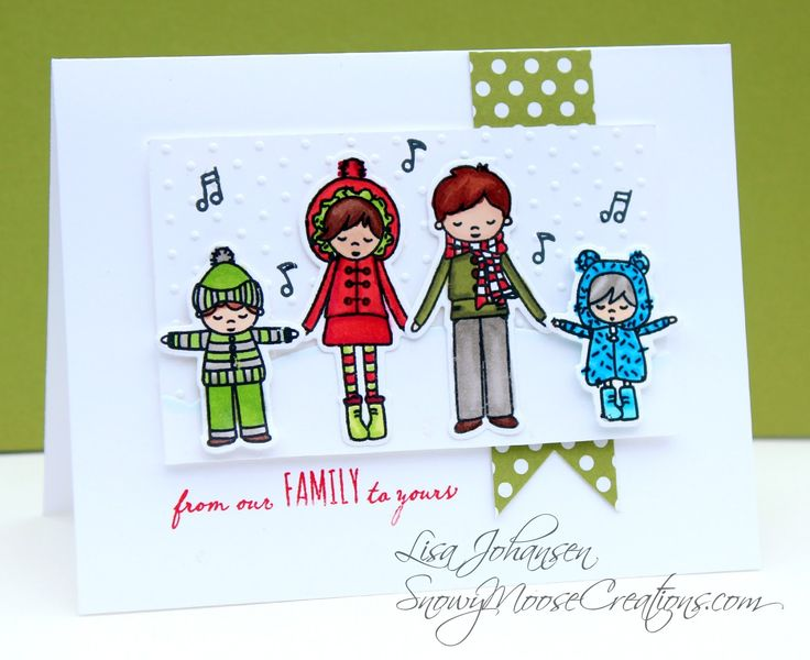 Snowy Moose Creations Mama Elephant Alpine Carolers