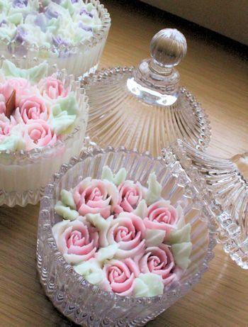お花のキャンドル作りました|新潟 手作り石鹸の作り方教室 アロマセラピーのやさしい時間